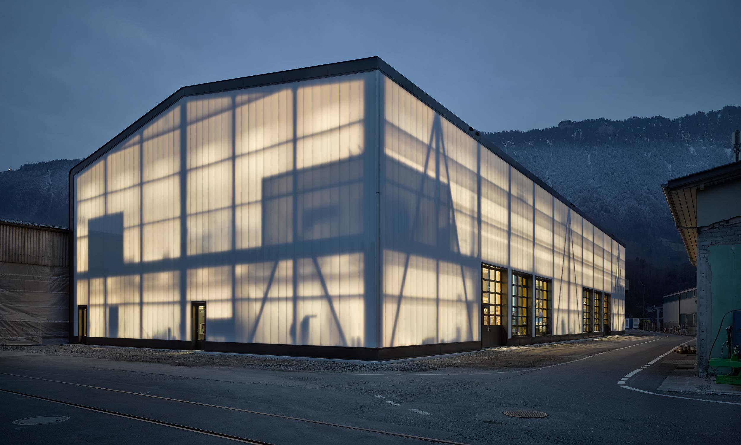 ASP Architekten AG Bern BLS Produktionshalle Bönigen